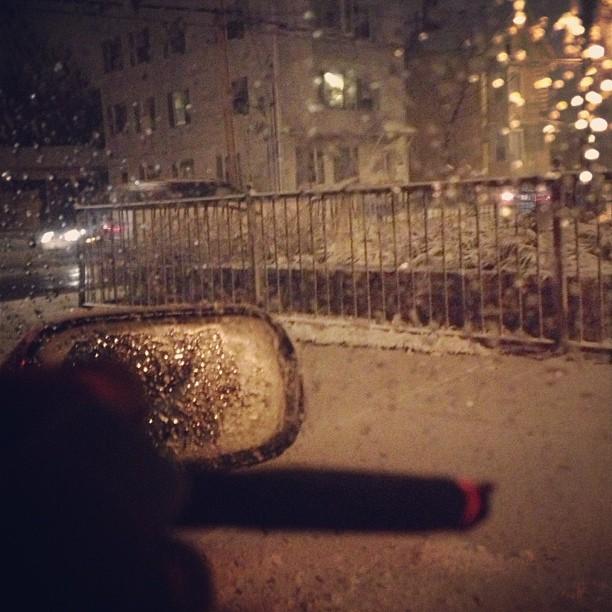 first #snowy #blunt #cruise of 2012 #weed #ganja #instaweed @rachelfarmout @lzaso @ltiggy #blunt #snow #subaru #drift